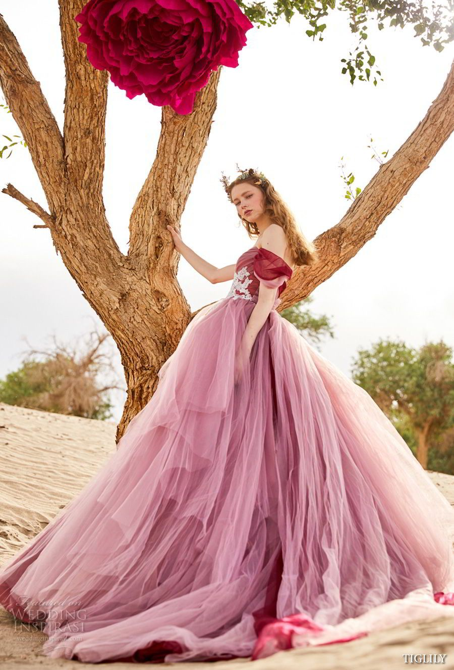TIGLILY 2018 Wedding Dresses   Vestidos de novia de colores ...