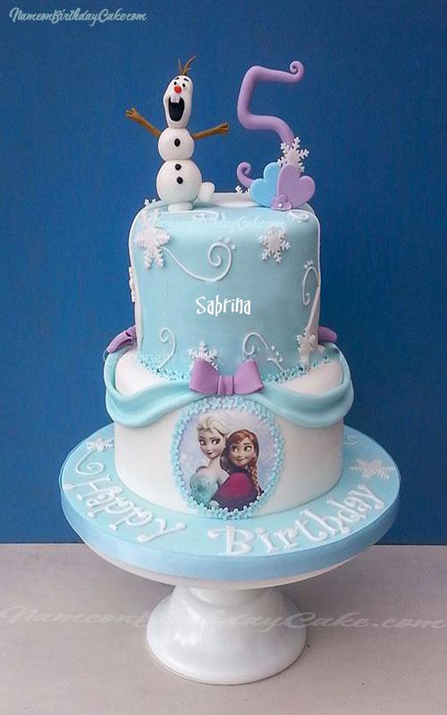 Write Name On Disneys Frozen Elsa Name Birthday Cake This Is The