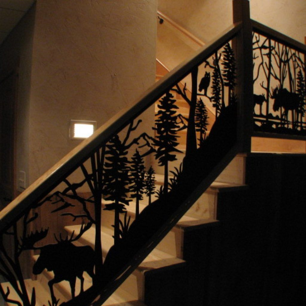 North American Land Animals - Railing | Rustic stairs ...