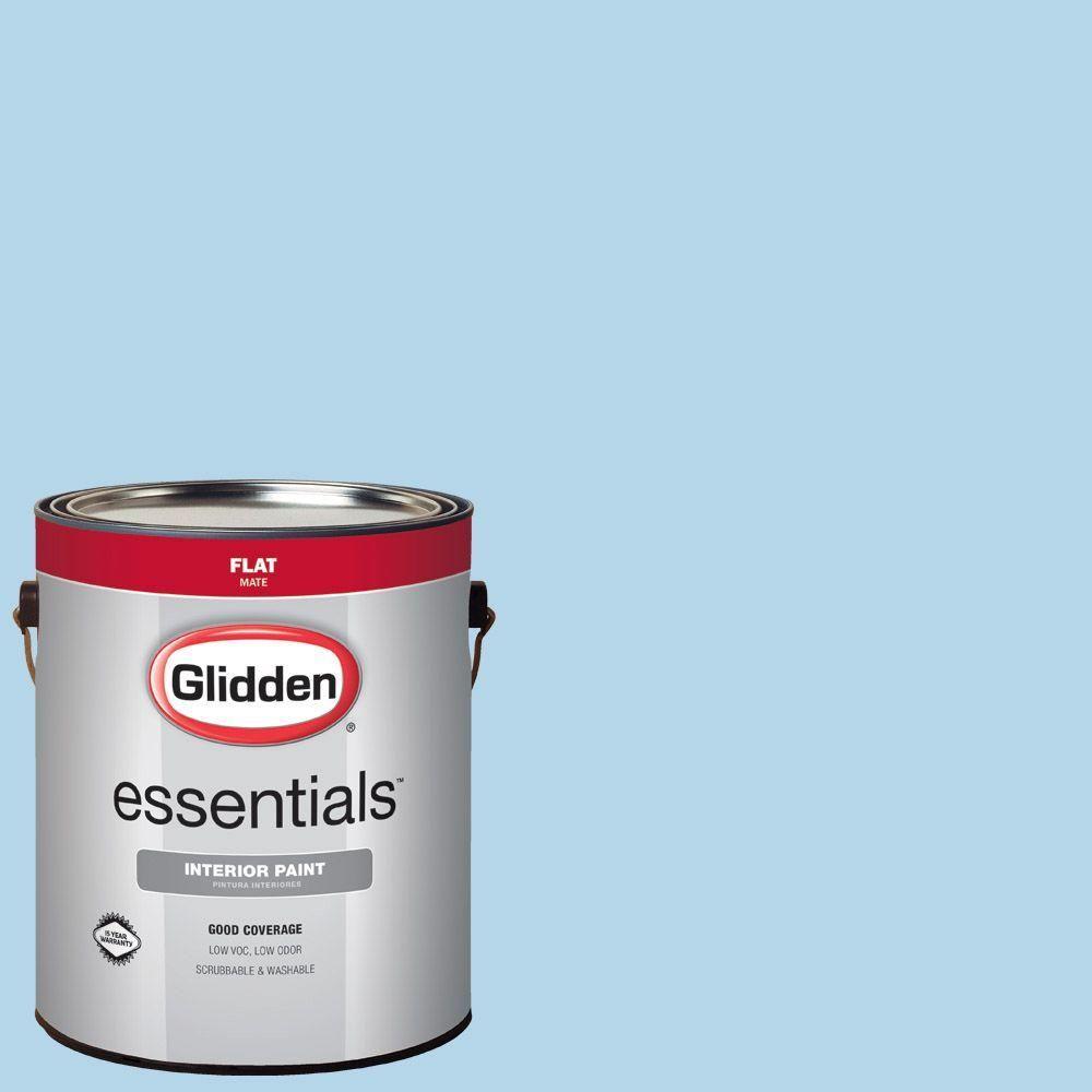 Glidden Essentials 1 gal. #HDGV03 Sweet Baby Boy Flat Interior Paint