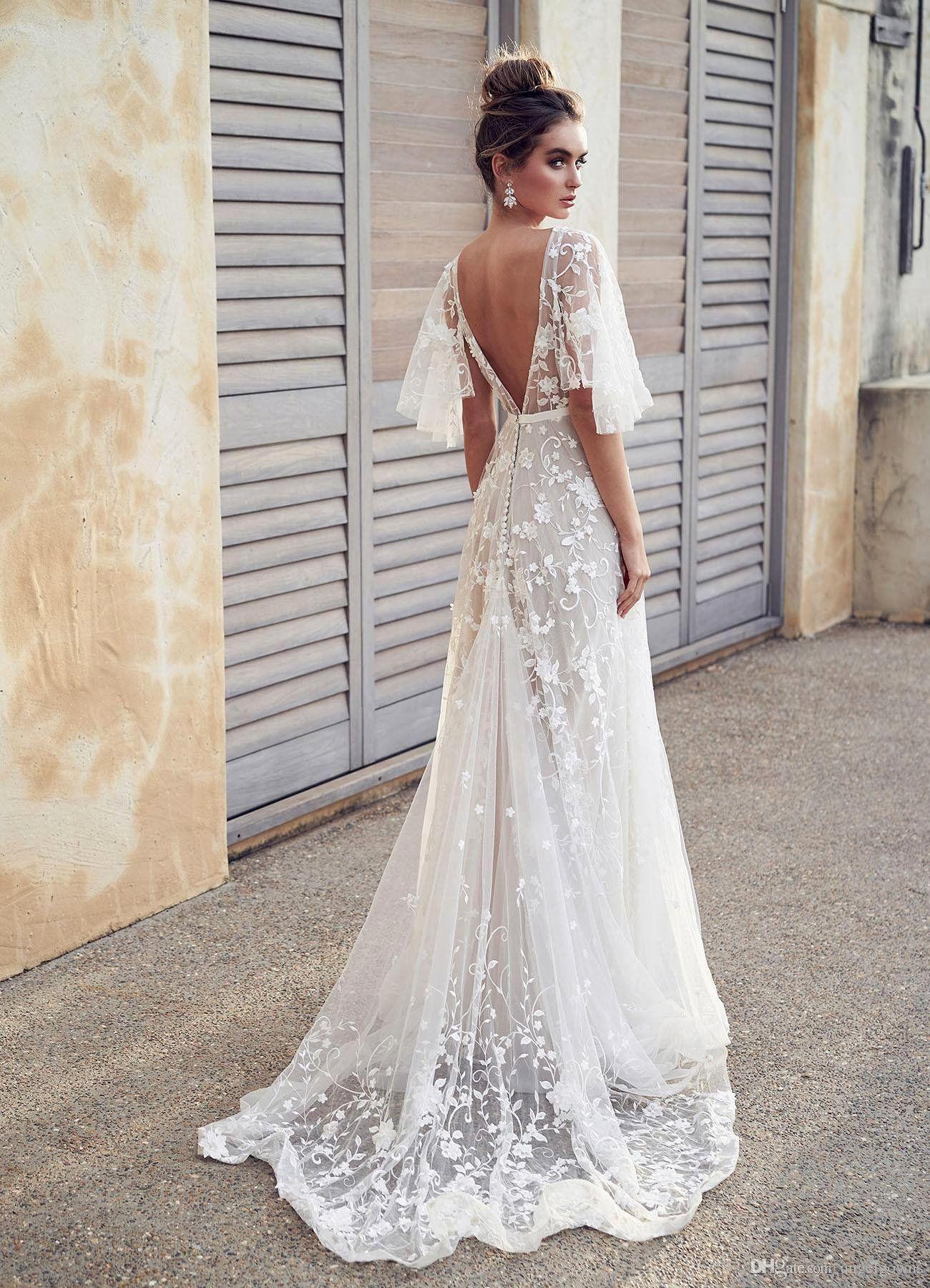Lace Strap Wedding Dress Fresh Y Backless Beach Boho Lace Wedding Dresses A Line New 2019 Appliqu Boho Wedding Dress Lace Wedding Dress Trends Backless Wedding