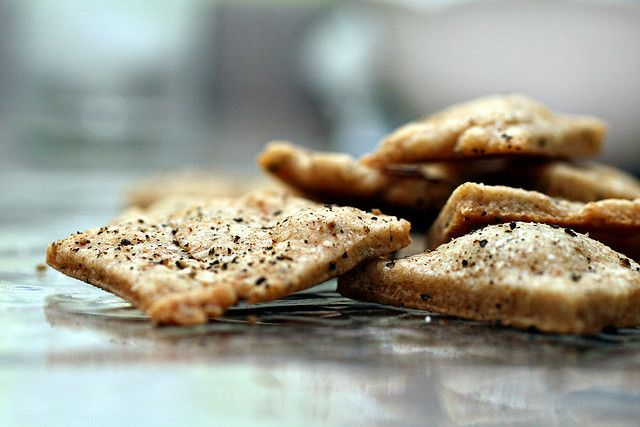 Parmesan & Cracked-Pepper Crackers