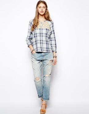 Image 4 of Denim   Supply By Ralph Lauren Boyfriend Jeans With Rips ... 08cd409122a7