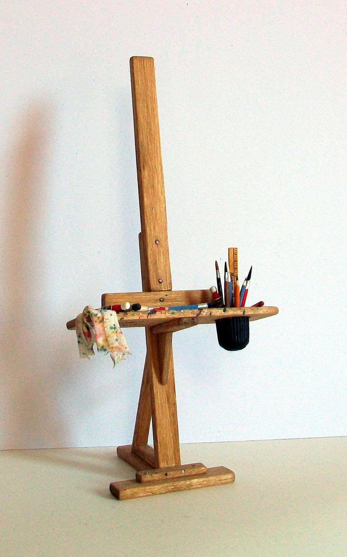 Miniature Artist Easel (1 inch dollhouse scale). 45.00