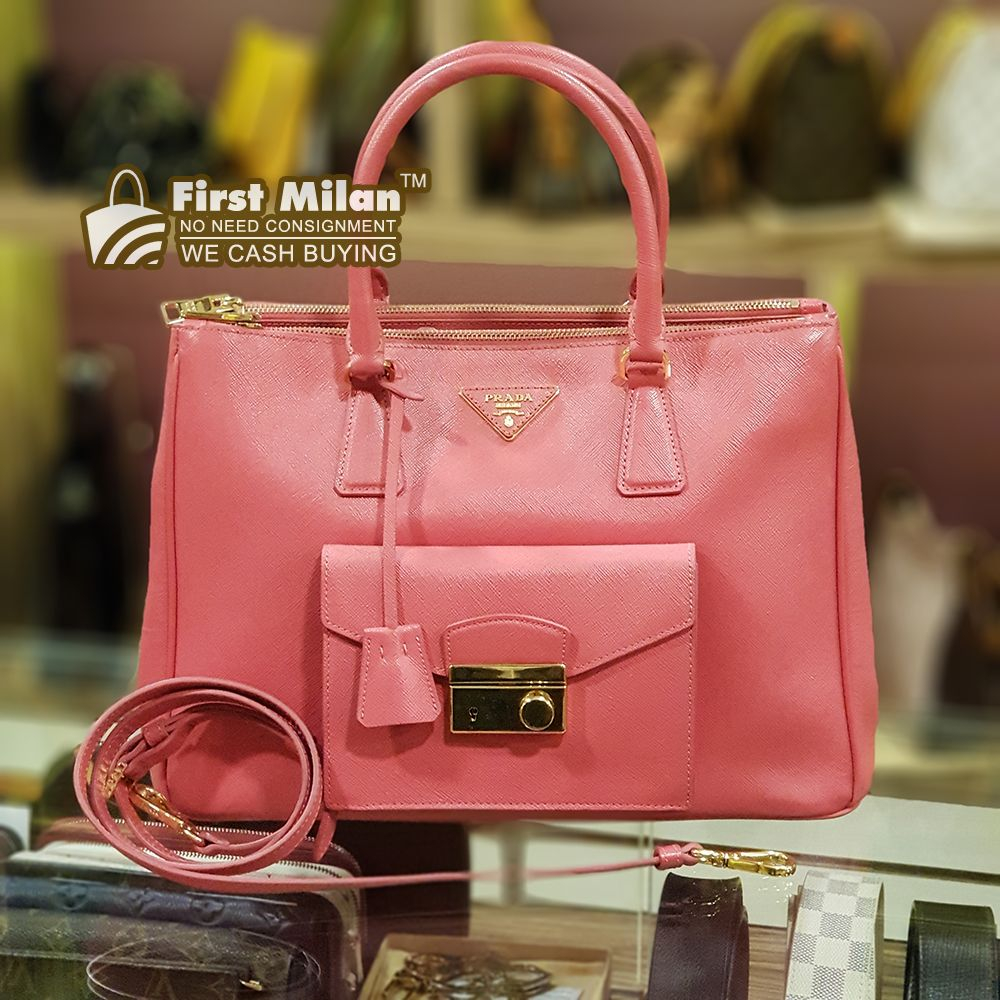 3a32a1ce1181bc PRADA Saffiano Leather 2 Ways Bag. Best Price ~ RM2,680 | PRADA in ...