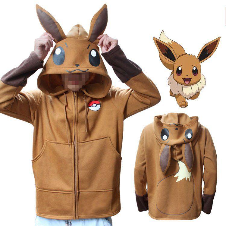 Pokemon Flareon Eevee Cartoon Game Men Unisex Pullover Sweatshirt Hoodie Sweater