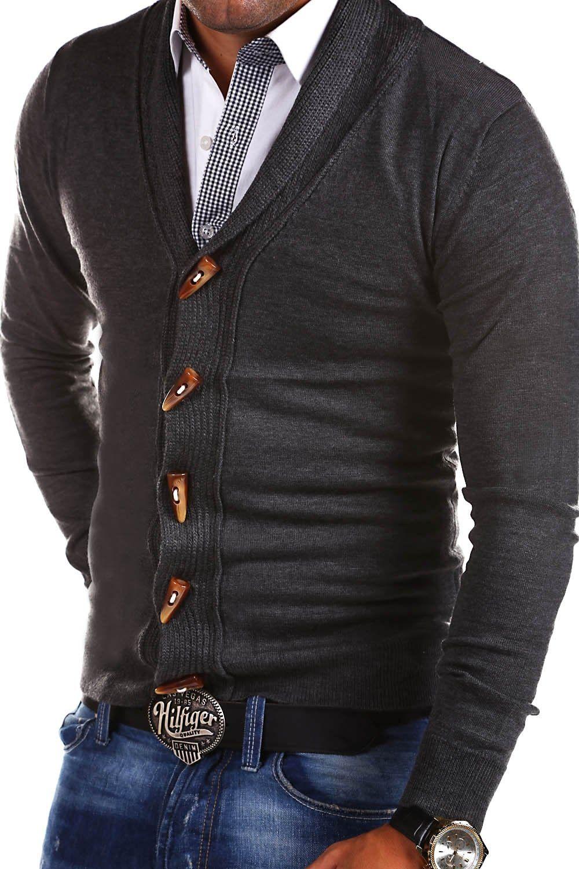 MT Styles Strickjacke mit Schalkragen Pullover M332: Amazon.de: Bekleidung