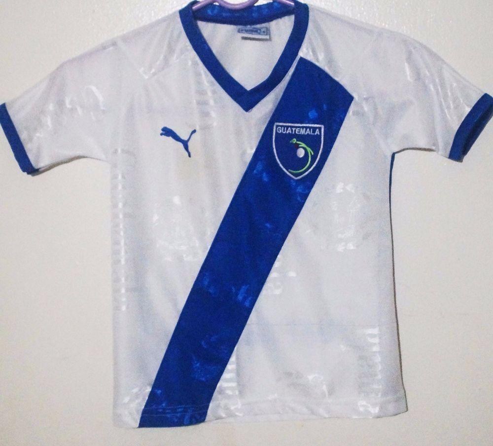 2008-10 Guatemala Puma World Cup Blue Soccer Football VTG Jersey Boys Size  6  Puma  Guatemala 21ede6c02