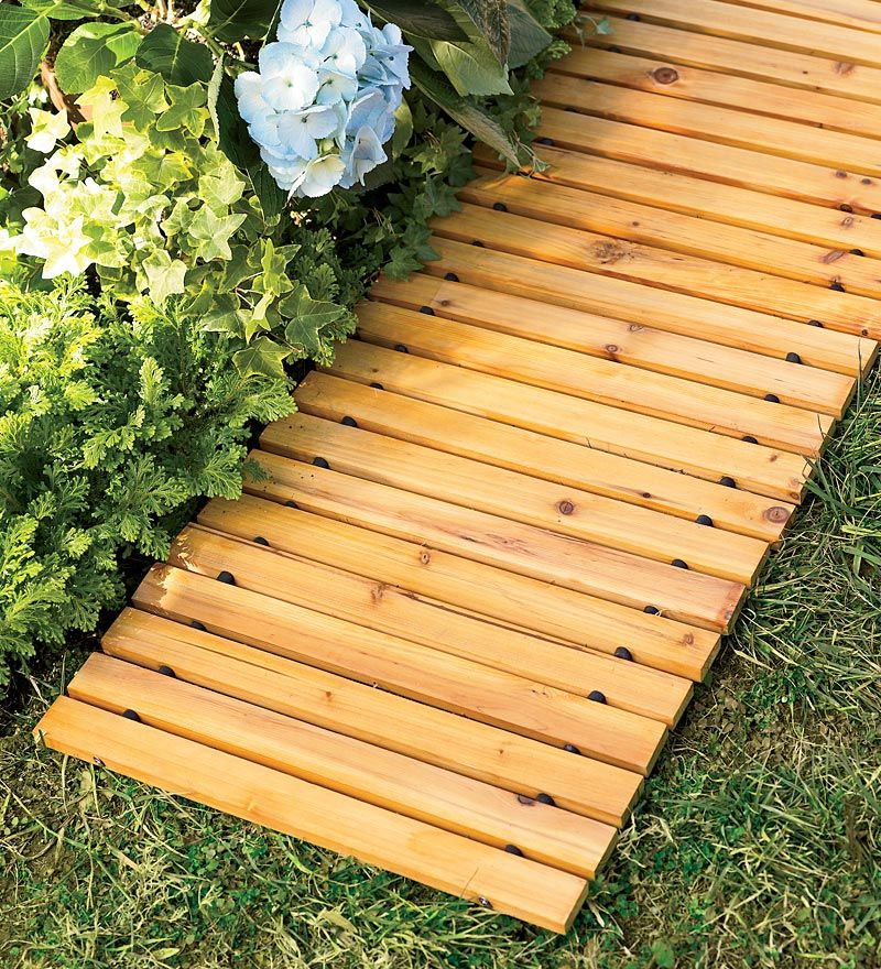 8 27 Weather Resistant Straight Cedar Pathway Wooden Pathway Backyard Landscaping Cedar Garden