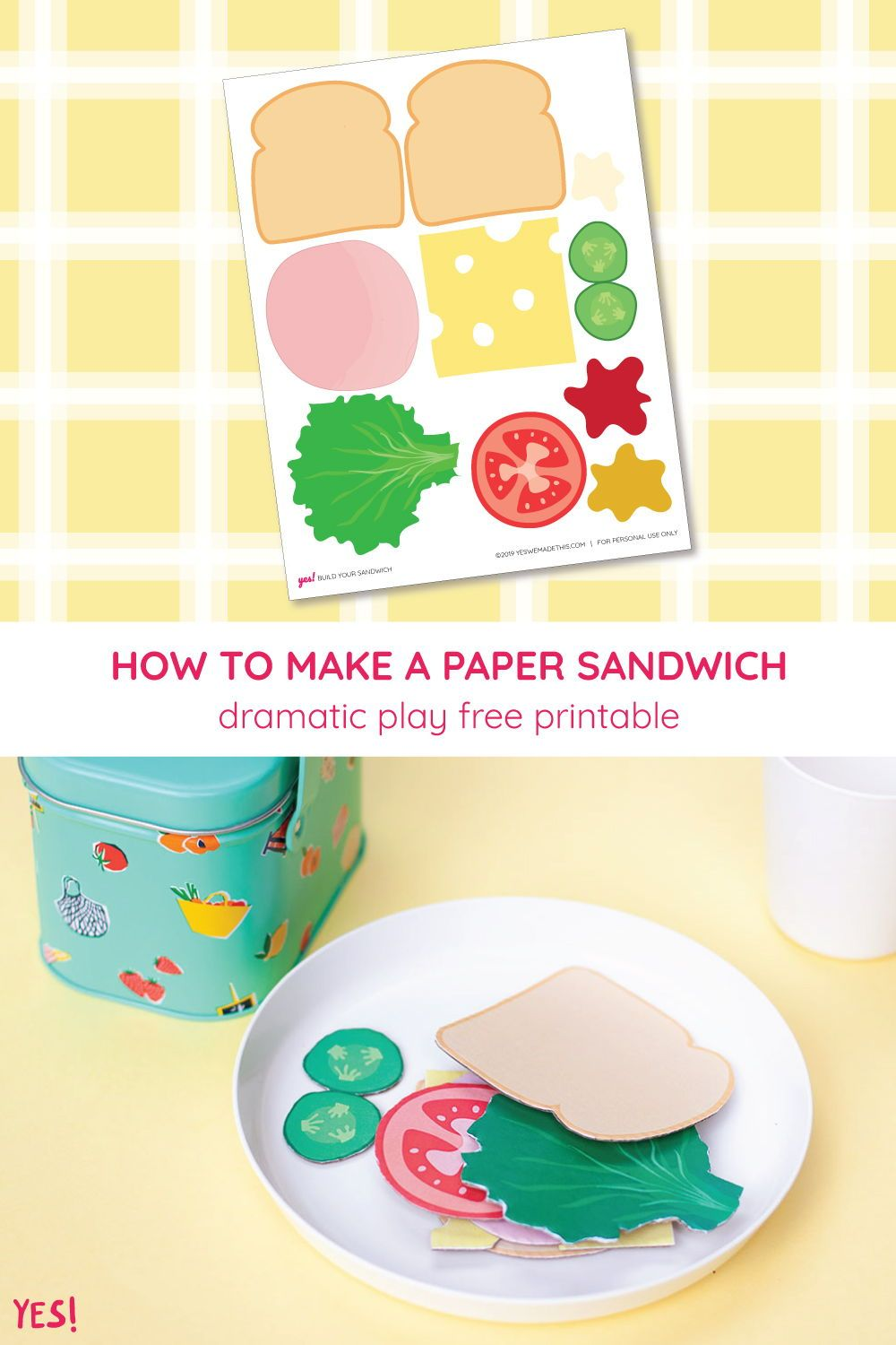 Diy Play Food Sandwich Printable Yes We Made This Printables Free Kids Creative Activities For Toddlers Free Printable Activities