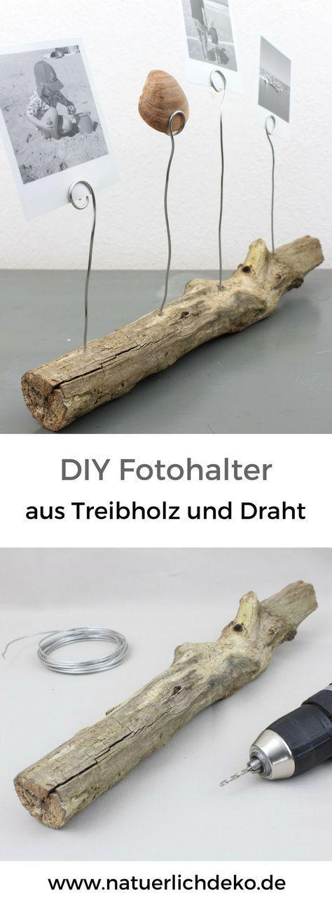 DIY Fotohalter aus Treibholz - Natürlich Deko #boisflotté