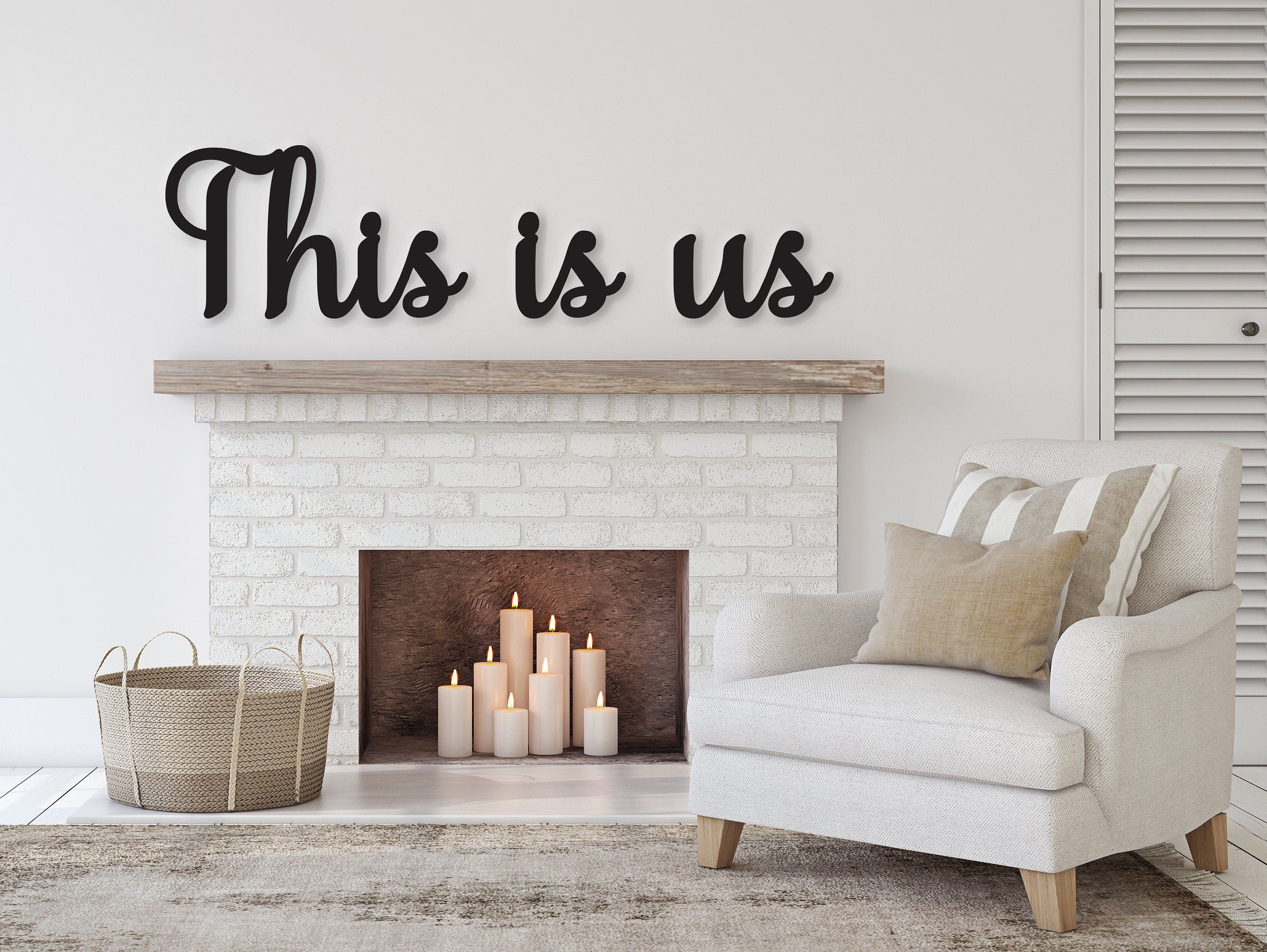 This Is Us Sign This Is Us Wall Decor This Us Wall Hanging Etsy Family Sign Wall Decor Word Wall Decor Word Wall Art