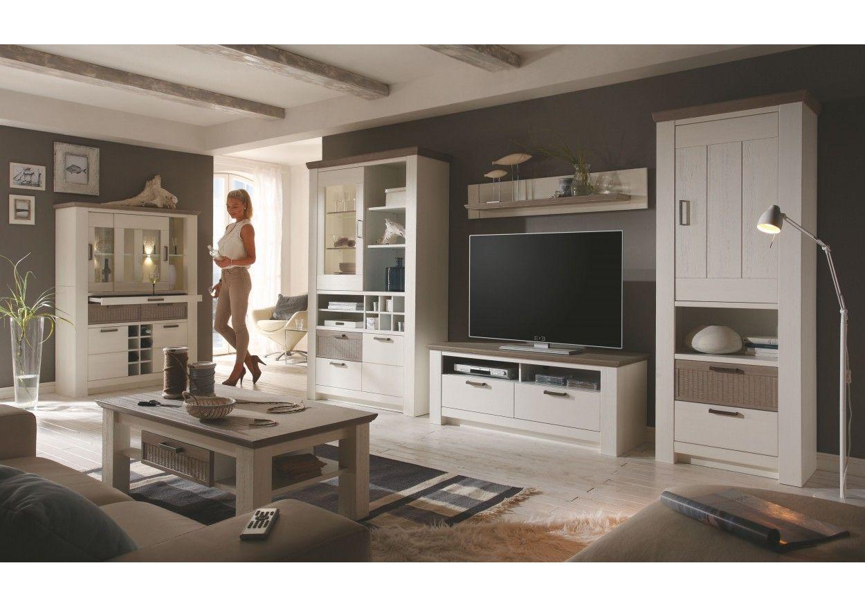Wohnzimmer-Einrichtung Wohnzimmer Komplett - Set F Sentis, 5-teilig ...
