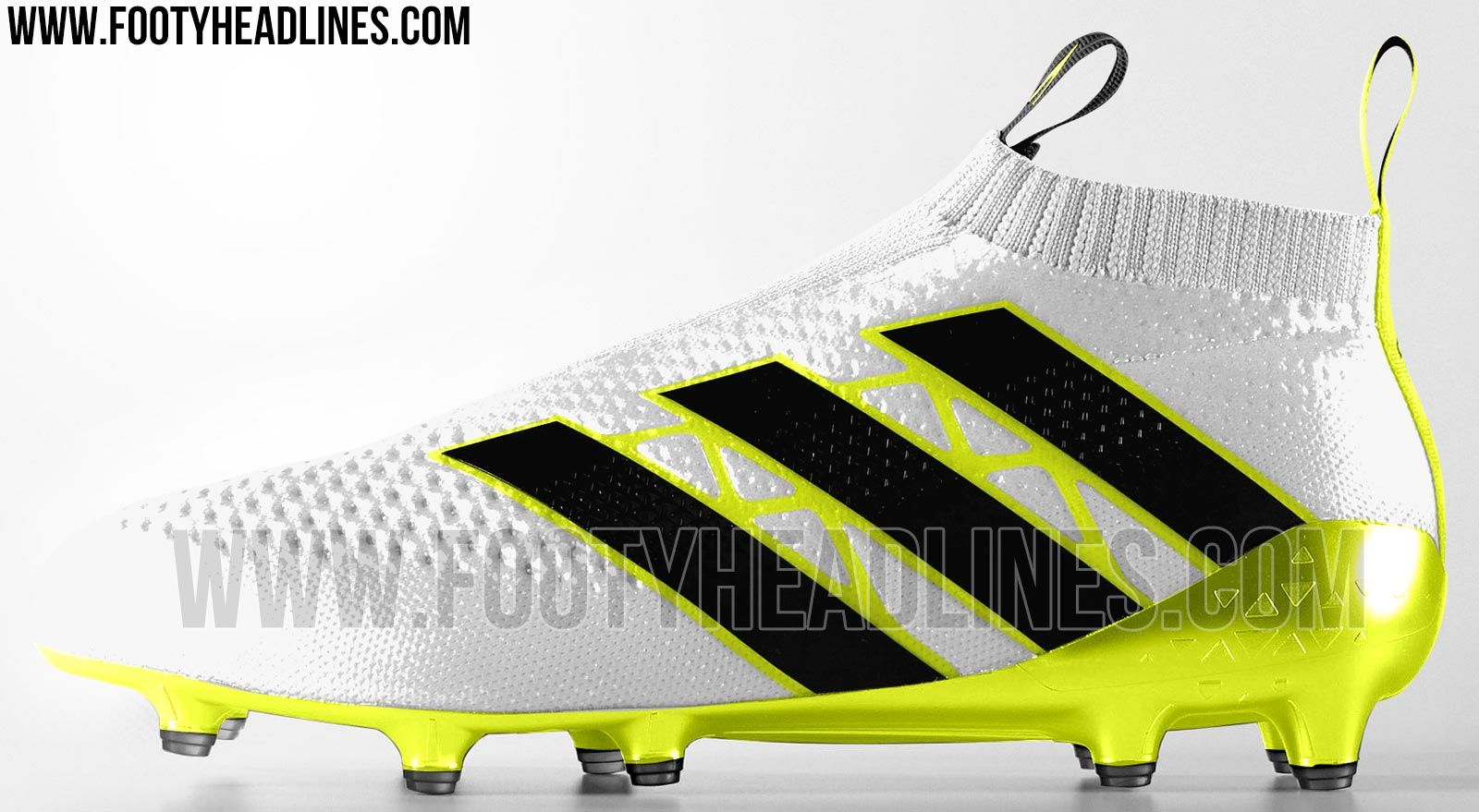 The white Adidas Ace 16+ PureControl football boots will be launched in  June 2016 and