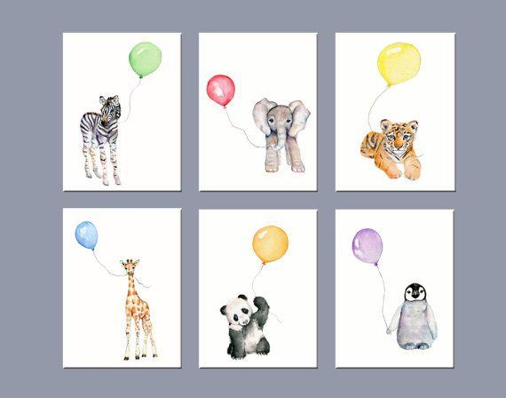 Childrens Wall Art nursery art animals, nursery wall decor, zoo animal nursery art