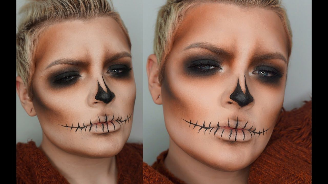 Smokey skull halloween makeup tutorial everything halloween hope you enjoy this easy skull makeup tutorial luxy hair extensions if you guys are interested and getting your own luxy hair extensions b baditri Image collections
