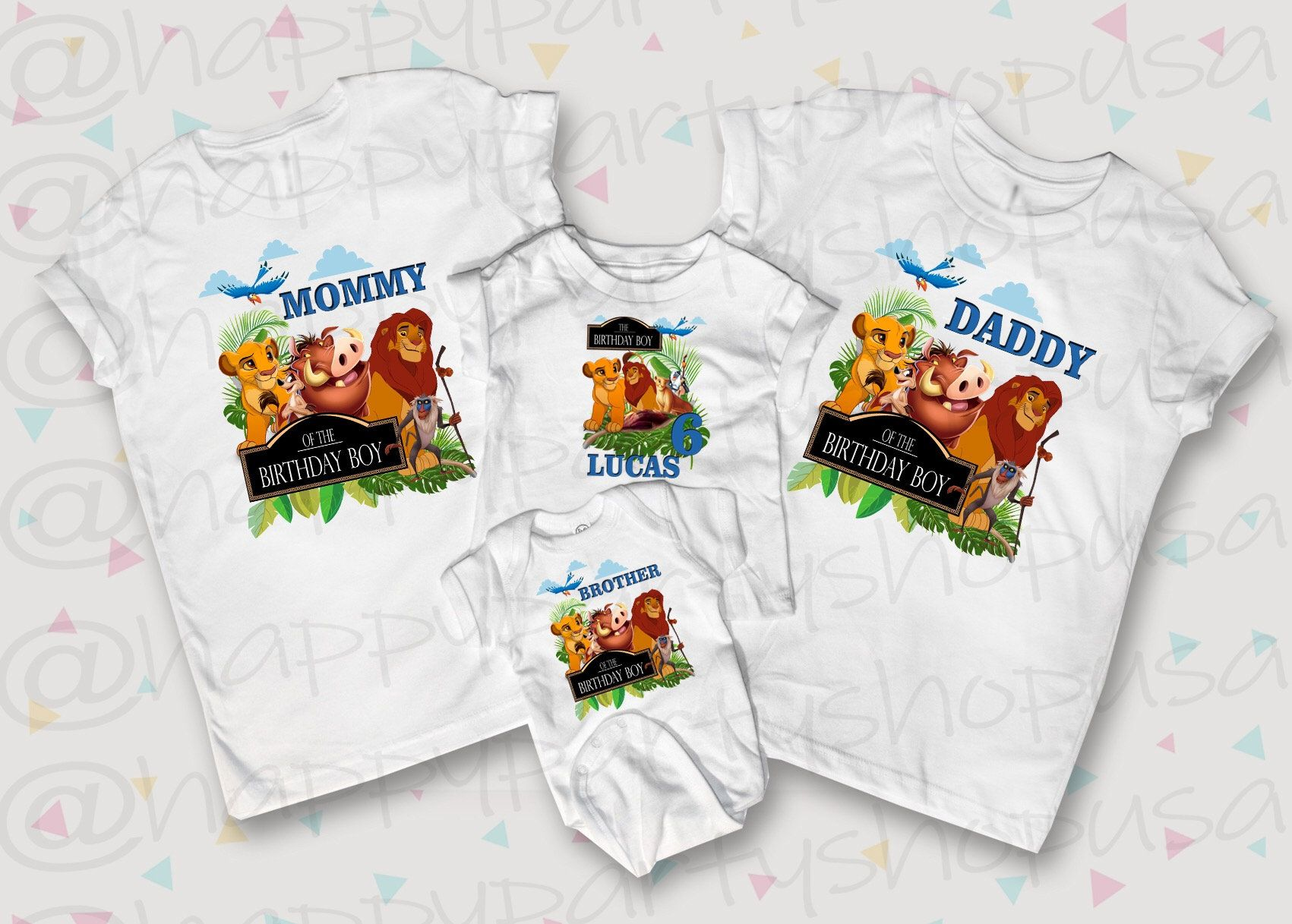 Lion King Boy Custom Birthday Shirt Personalized T-Shirt White