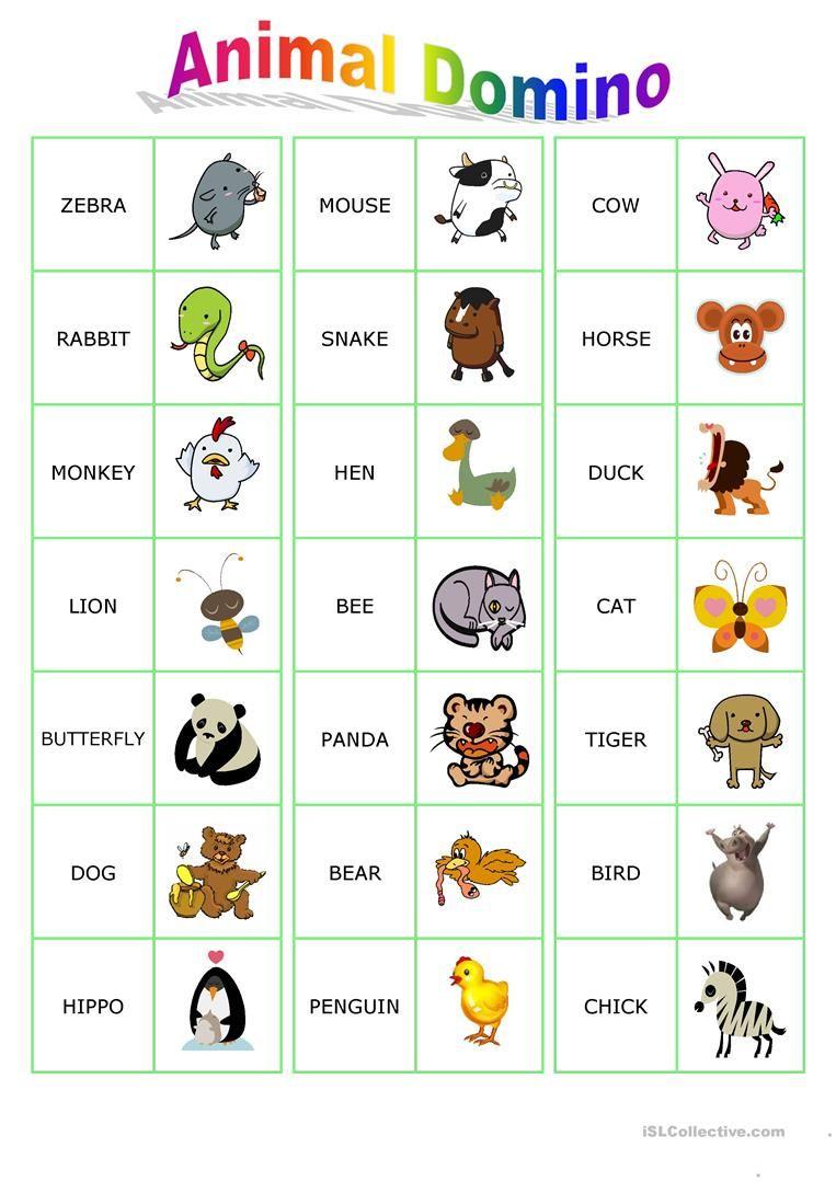 animal dominoes worksheet free esl printable worksheets made by teachers yoga english. Black Bedroom Furniture Sets. Home Design Ideas