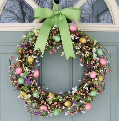 Fifty-Five Awesome Wreaths to Adorn Your Front Door | Easter ...