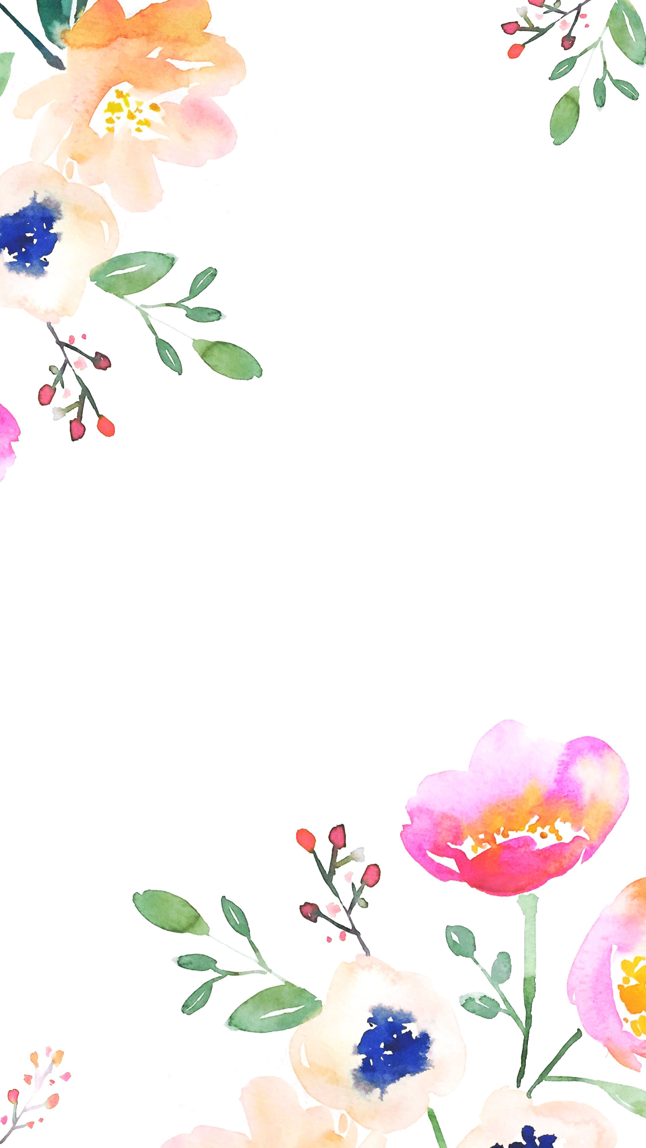 Pin Maria Pole Iphone Floral Watercolor