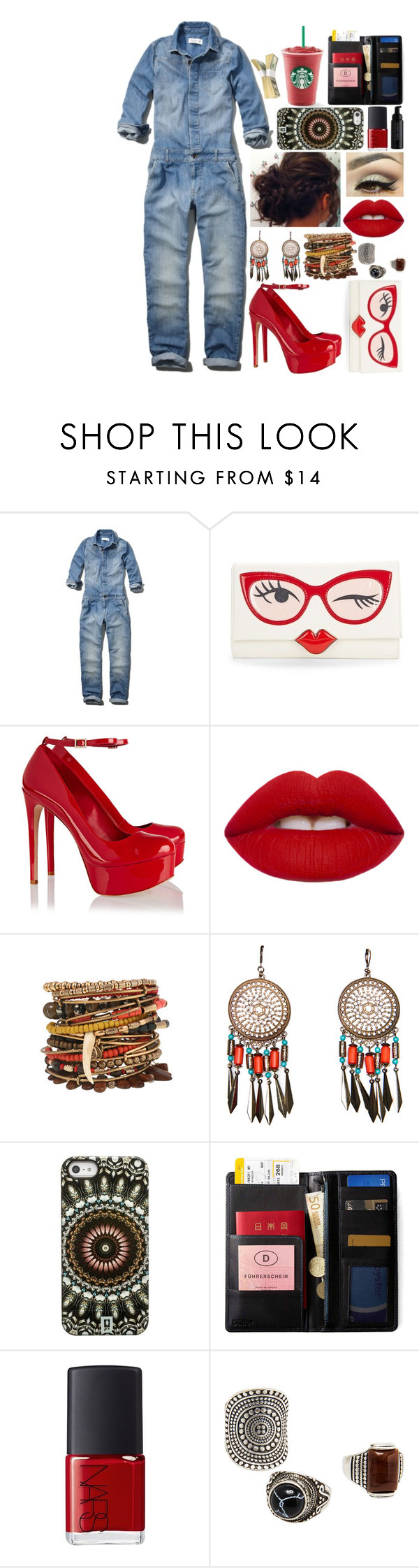 """This"" by chiaral95 ❤ liked on Polyvore featuring Abercrombie & Fitch, Kate Spade, Schutz, MANGO, DANNIJO, IDEA International, NARS Cosmetics and Josie Maran"