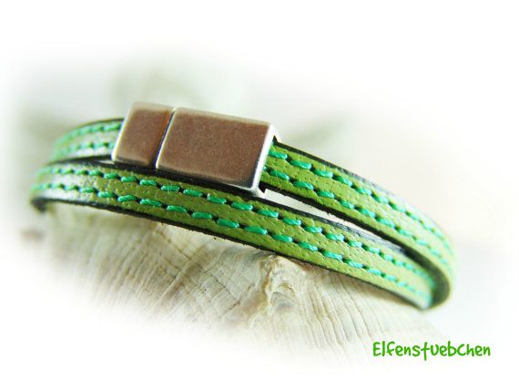 Wickelarmband Lederarmband Damen 11 Farben von elfenstuebchen / women's wrap bracelet leather - 11 colors