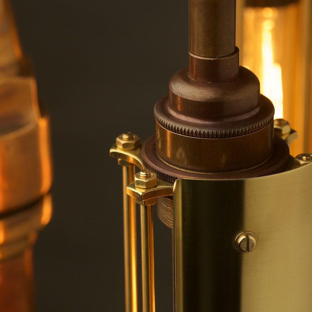 Polished Fire Hose Nozzle Multi Bulb Lamp Shade Lamp Bulb Hose Nozzle