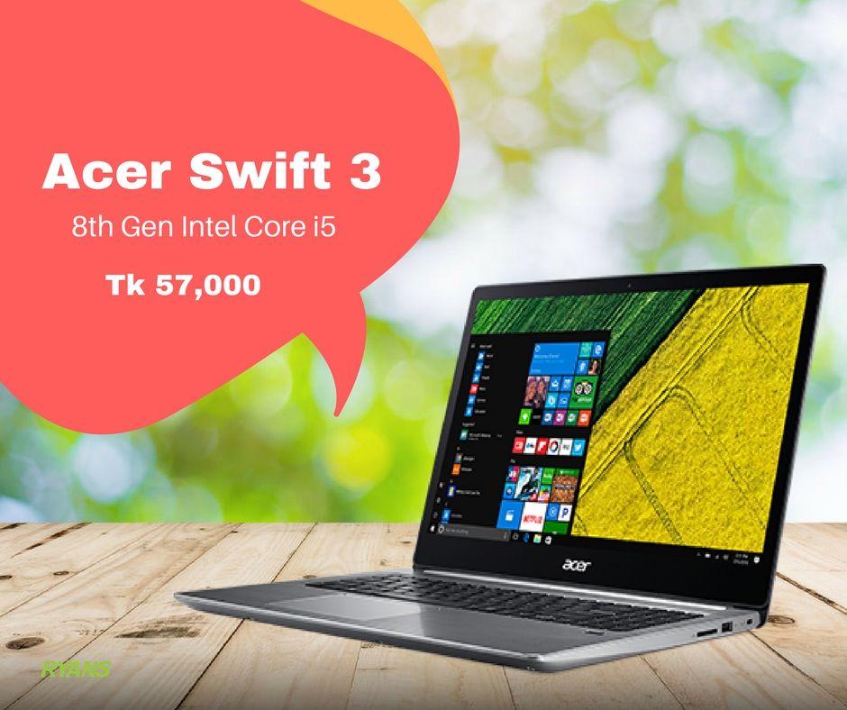 Acer Swift 3 Sf315 51 53g6 8th Gen Intel Core I5 8250u 1 60 3 40ghz