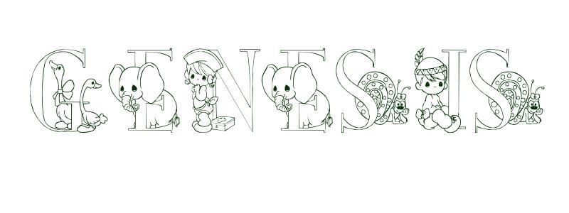 Coloring Page First Name Genesis | Coloring pages, Free ...