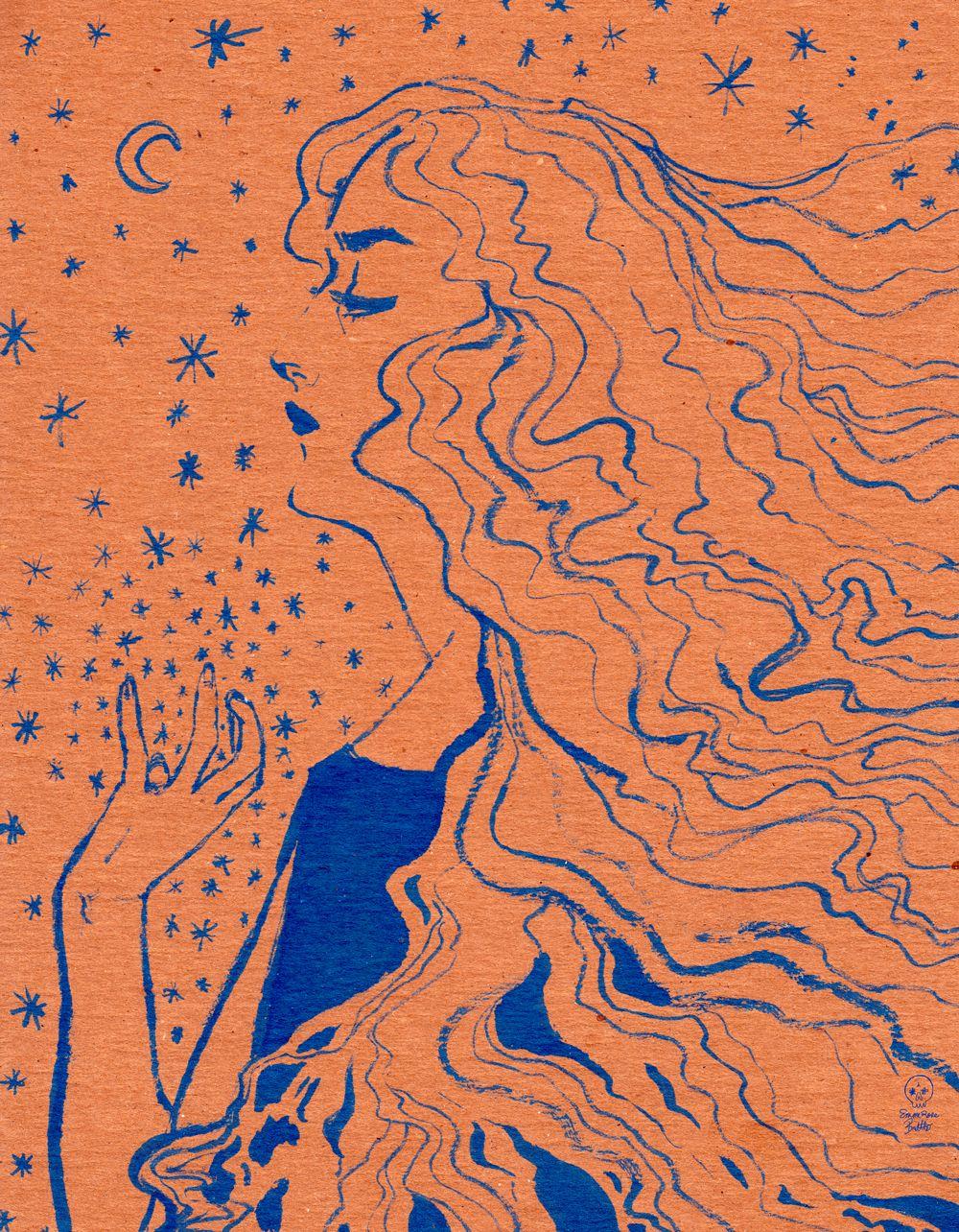 Kraft Prince, an art print by Emme Brettle