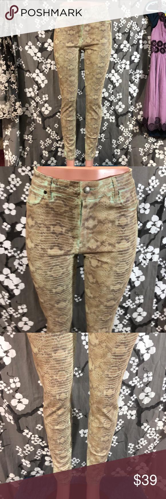 Nwt Guess 1981 Power Skinny Snake Foil Jeans Womens Jeans Skinny Skinny Women Shopping