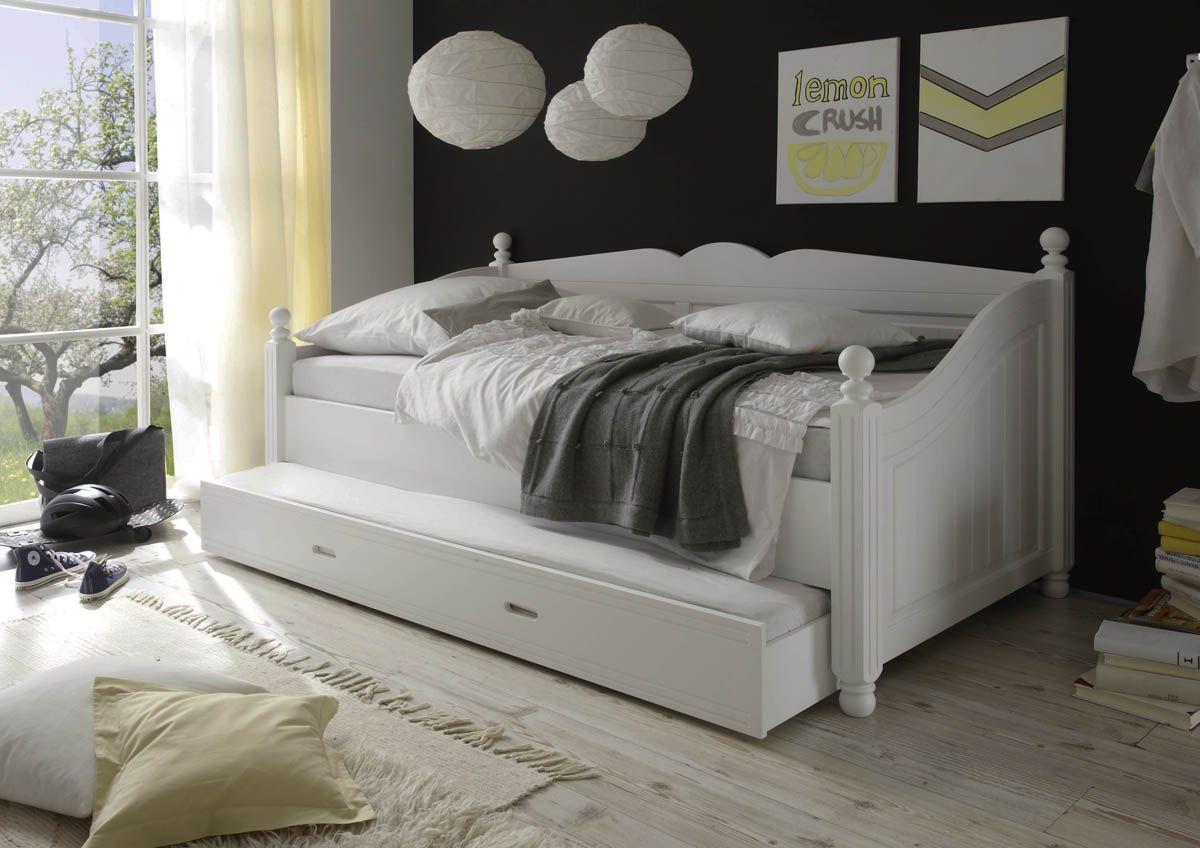 cinderella premium kojenbett kiefer bett in weiss. Black Bedroom Furniture Sets. Home Design Ideas
