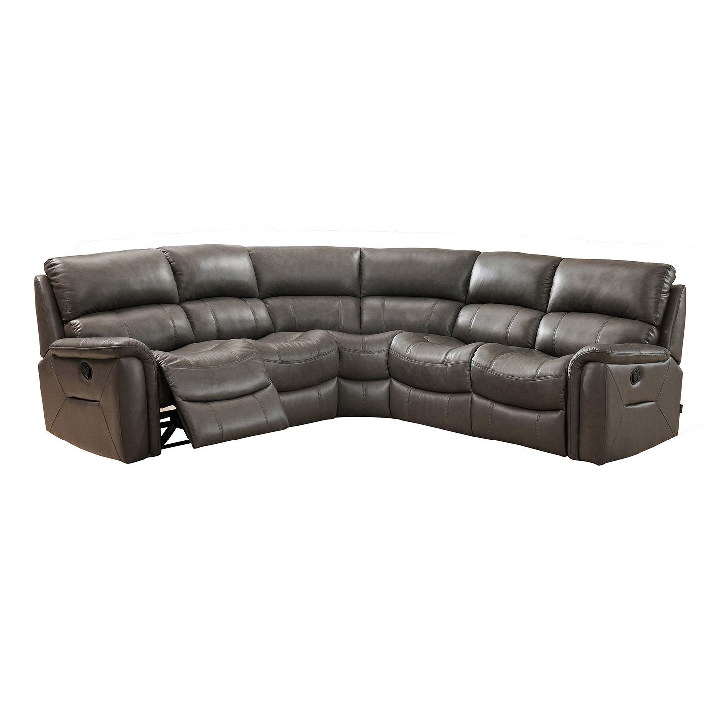 Forbes Leather Reclining Sectional SUGARLOAF FURNITURE