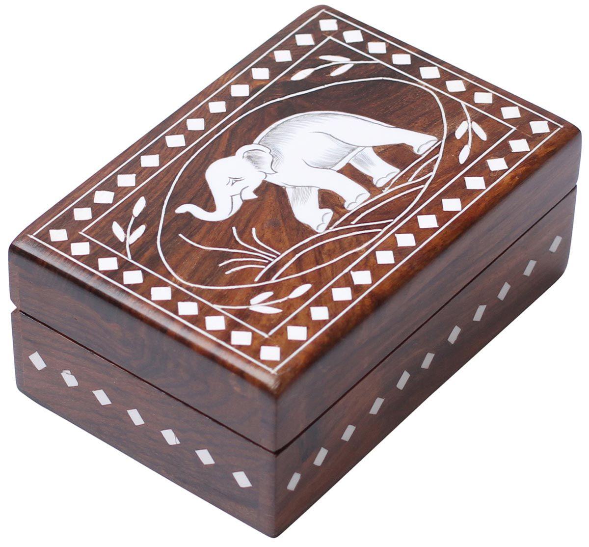 Handmade Wood Jewelry Box With Lid On Hinges Keepsake Rectangular Box