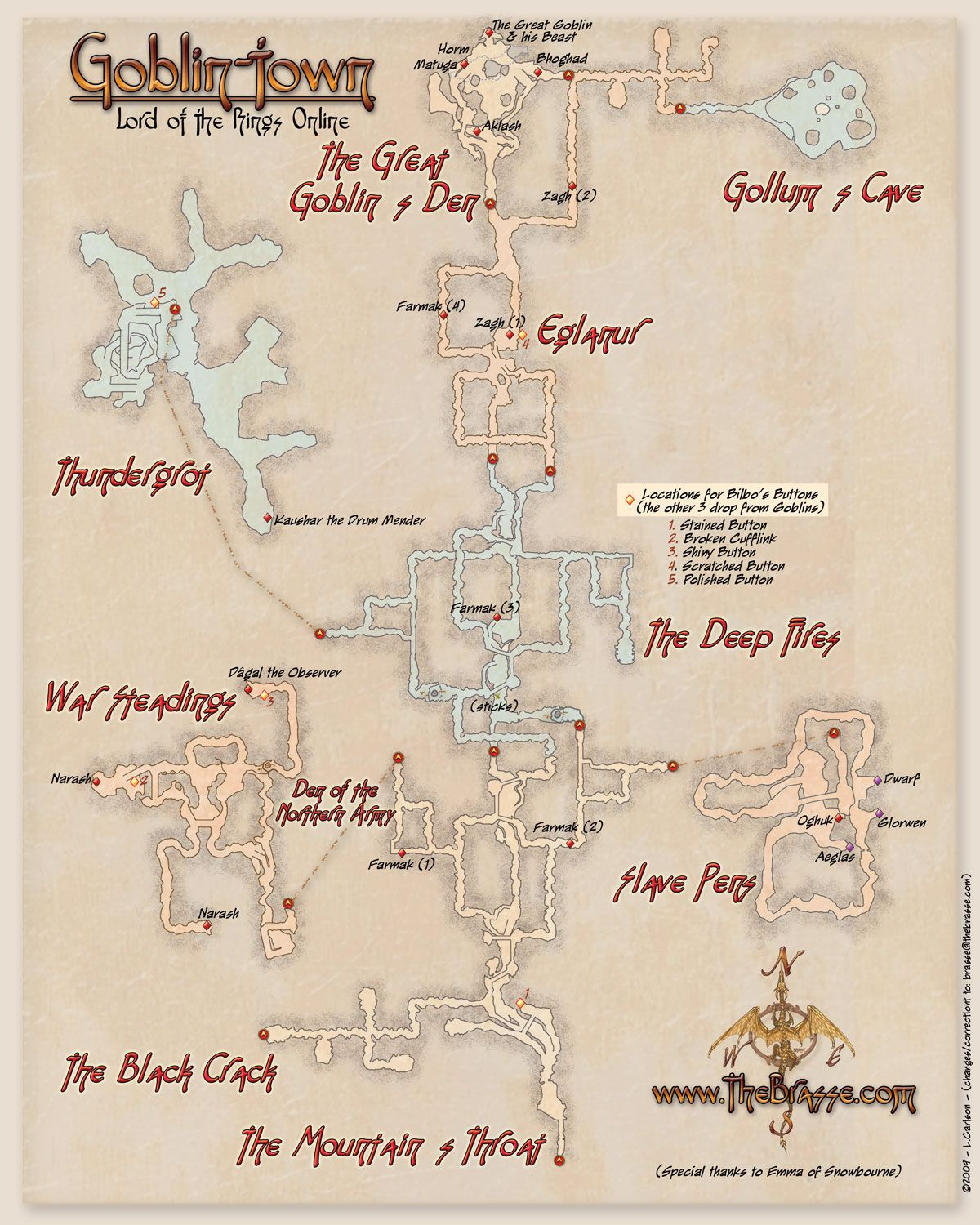 Lotrogoblintowng 12001500 maps of middle earth best ever map of goblin town sciox Gallery