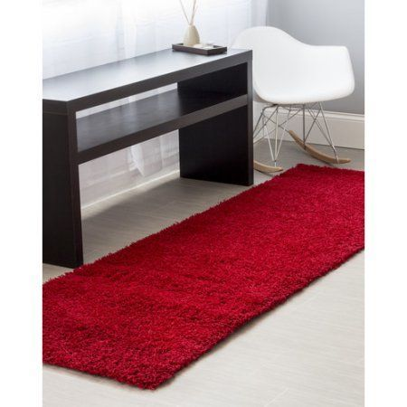 Super Area Rugs Cozy Plush Solid Red Rug 2 7 Inch X