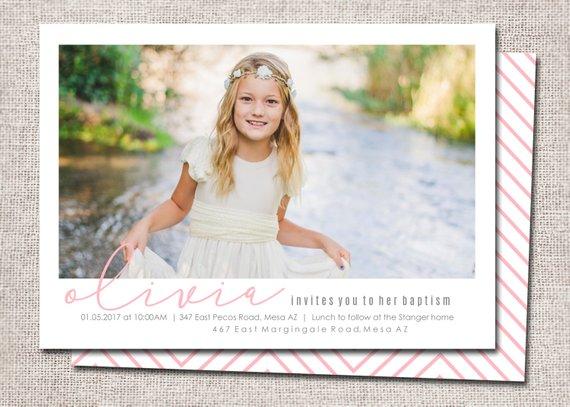 LDS Baptism invitation, modern baptism invitation, printable
