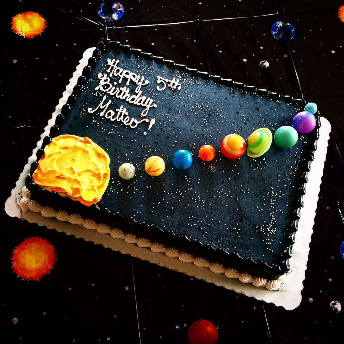 Peachy Solar System Cake By Safeway Planets From Diddams Birthday Cake Personalised Birthday Cards Epsylily Jamesorg