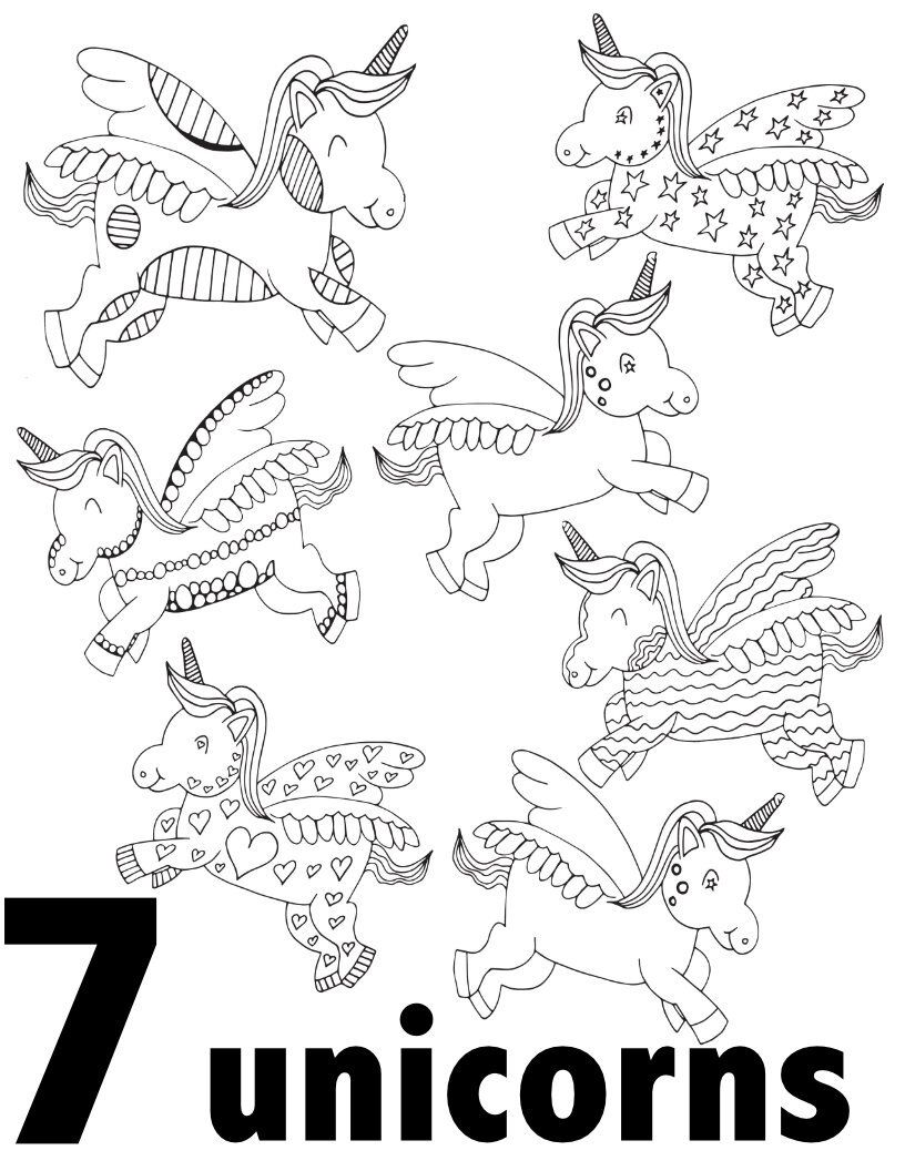 Unicorn Numbers 1 10 Free Printable Pages For Preschool Kindergarten Stevie Doodles Coloring Pages Kindergarten Coloring Pages Unicorn Coloring Pages