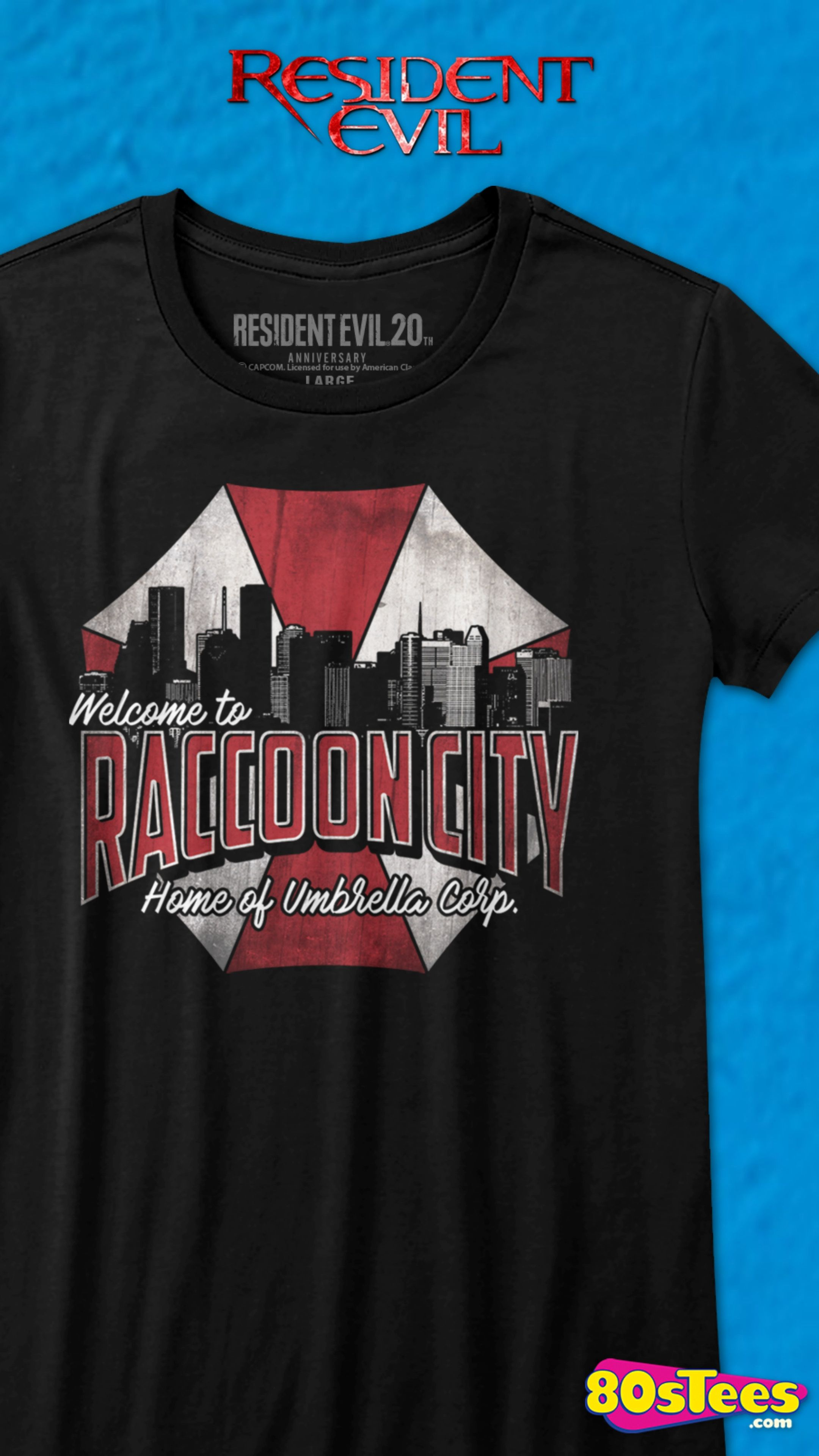 Raccoon Police Department Resident Evil Inspired T-Shirt Adults /& Kids Sizes