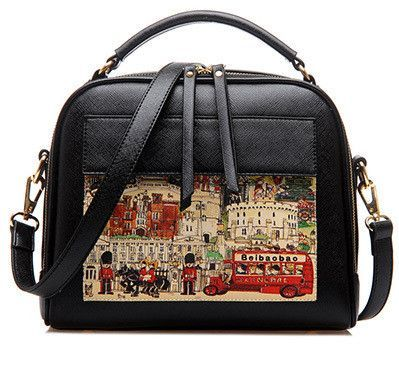 17bf7eb763e3 Fashion Women s Handbag Doodle Pattern Women s Messenger Shoulder Bag  Crossbody Ladies Handbag Top-Handle Bag