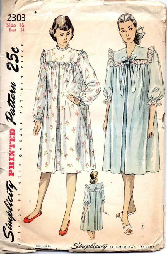 1940s+simplicity+patterns | Simplicity 2303 1940s Hospital or ...
