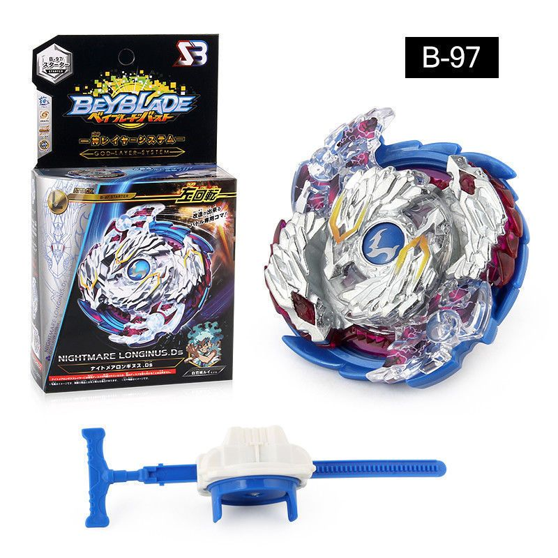 BeyBlade Burst B-97 Starter Nightmare Longinus.Ds With Launcher Toys Gift Hot