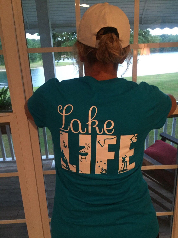 0ed1f196c0 Lake Life T-shirt Waterskiier   Clothes, shoes, etc.   Lake life, Shirts