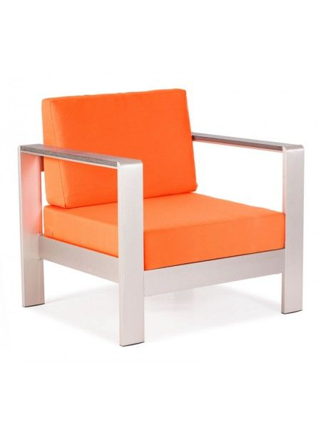 Zuo Modern Cosmopolitan Armchair Cushions Orange Also Red