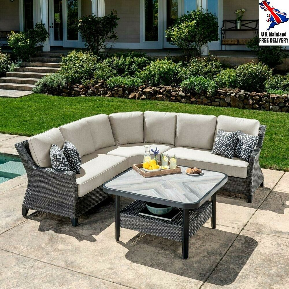 Wicker Garden Furniture Sectional Conservatory Patio Sofa