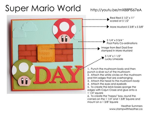 Mario Bros | Punches | Pinterest | Punch art, Punch art cards and