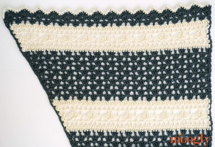 Quicksilver Shawlette - free crochet pattern on Mooglyblog.com ...