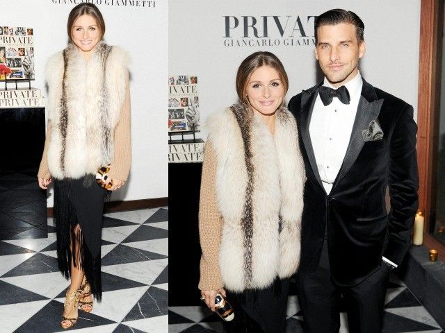 Olivia Palermo's Fur & Fringe Party Look | Lifestyle Mirror