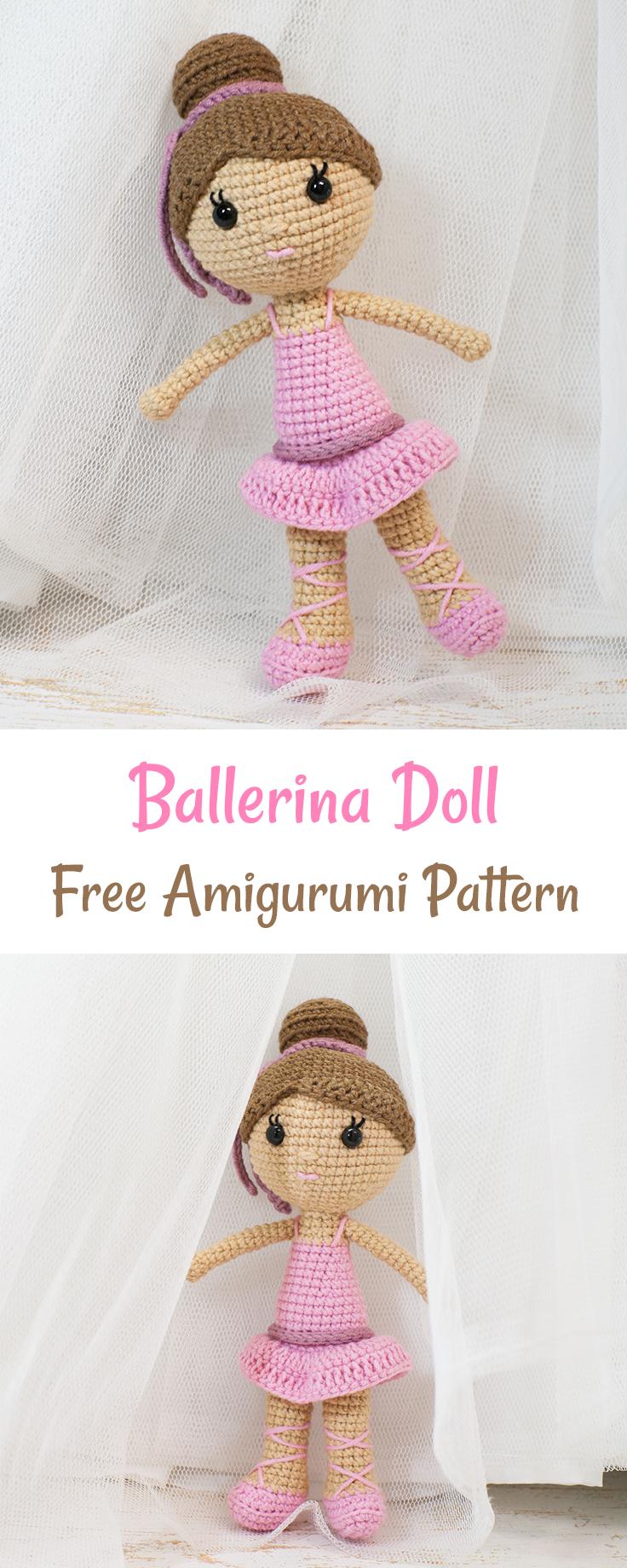 Ballerina doll amigurumi pattern | Muñecas, Ganchillo y Patrones ...